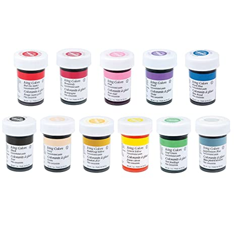 Amazon.com: Wilton 12 Icing Color Set Includes 12 Large 1 Ounce ...