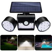 Luz Solar Exterior,GIANTARM Foco solar LED de exterior de ajustable de 360 grados con detector de movimiento,grado…