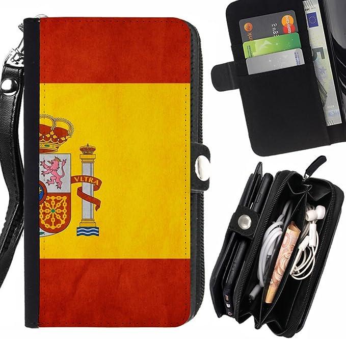 Graphic4You España bandera española Carcasa Funda Monedero Con Cremallera y Correa de Muñeca Para Samsung Galaxy Express 2: Amazon.es: Electrónica
