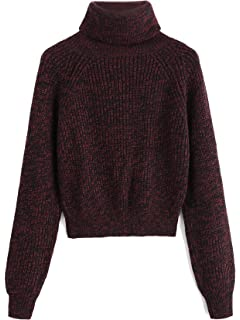 071225a78257e4 Milumia Turtleneck Winter Sweaters Long Sleeves Fitted Crop Sweater Fall  Fashion Sexy Wear