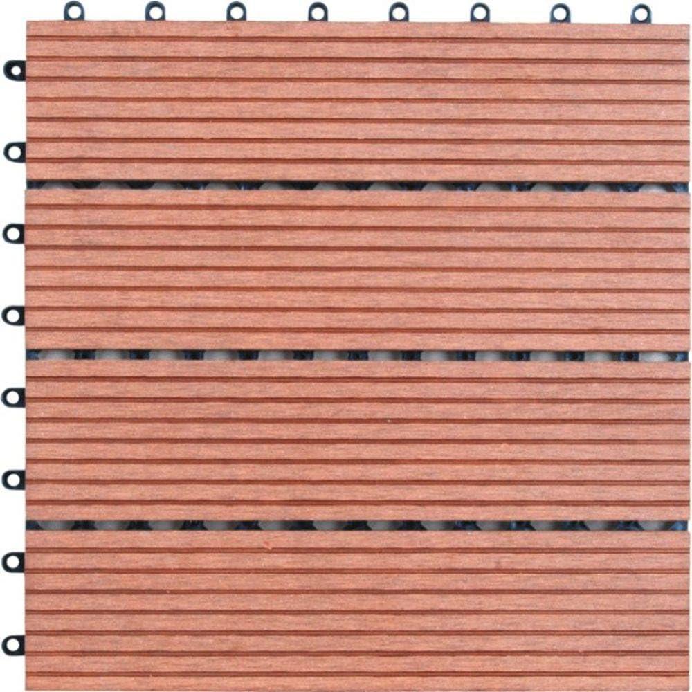 4-Piece Naturesort N4-OT02 Bamboo Composite Deck Tile
