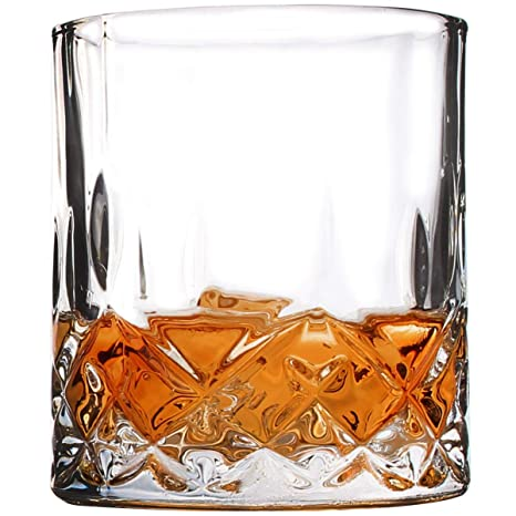 bc80f6e51b2 Whiskey Glasses, Scotch Bourbon Drinking Cups, Old Fashioned Crystal Clear  Gift Set of 4