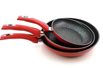 Juego 3 Sartenes Royalty Line cocina antiadherente hobs inducción Gas fm3 F: Amazon.es: Hogar