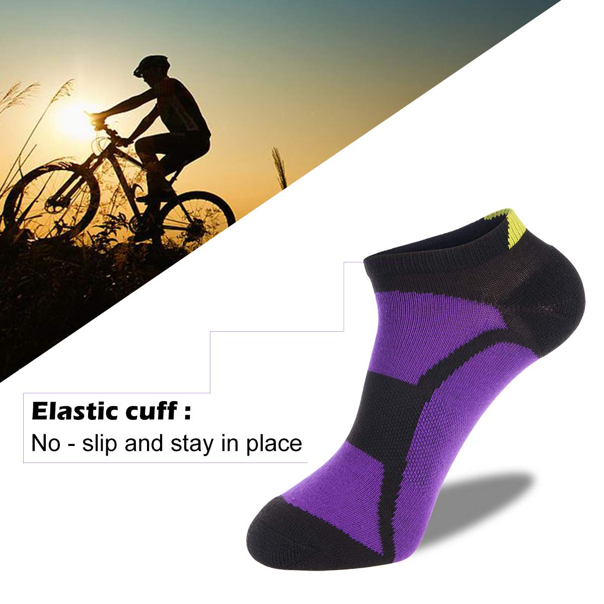6Pairs LITERRA Womens Ankle Socks Low Cut Breathable No Show Socks for Running Sport With Arch Support