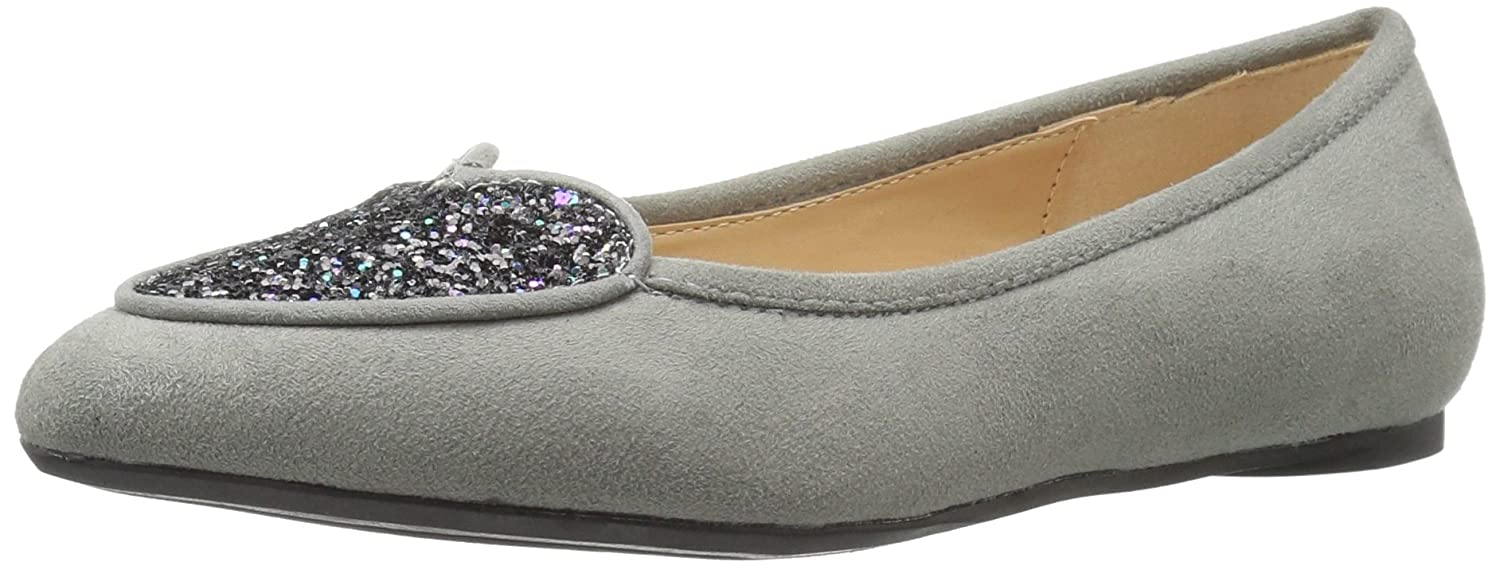 Penny Loves Kenny Women's Nookie Ballet Flat B01M7Q9JU0 8.5 B(M) US|Grey Micro Suede