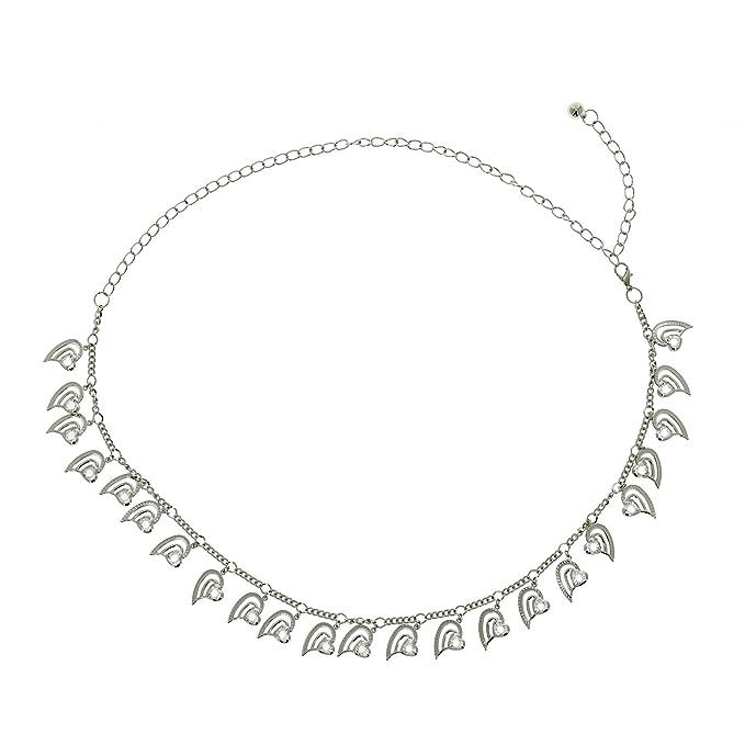 79da8a3138b7 FASHIONGEN - Ceinture chaîne à coeur pour femme PAOLINI - Argenté, Taille  unique