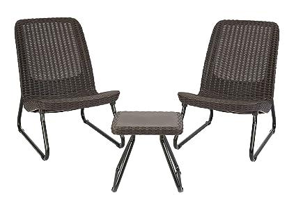 Amazon.com: Keter Rio - Juego de mesa y silla de jardín para ...