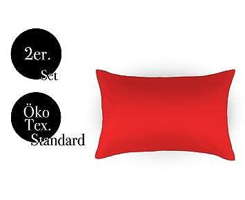 Amato Home Kissenbezuge Doppelpack 2er Set Bettwasche Kopfkissen