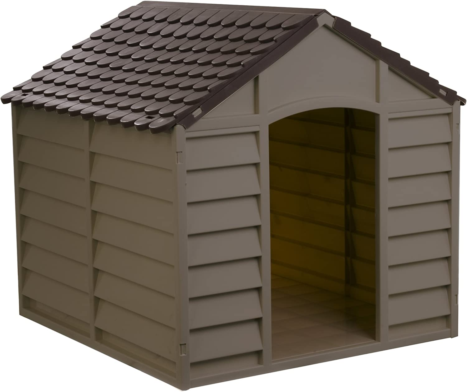 Starplast Mocha Brown Large Dog House Kennel