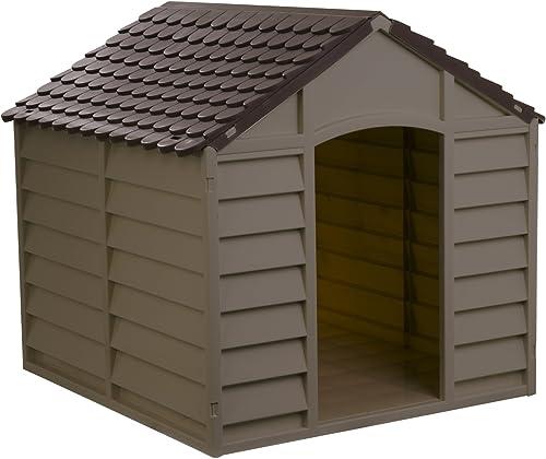 Starplast Mocha Brown Large Dog House Kennel