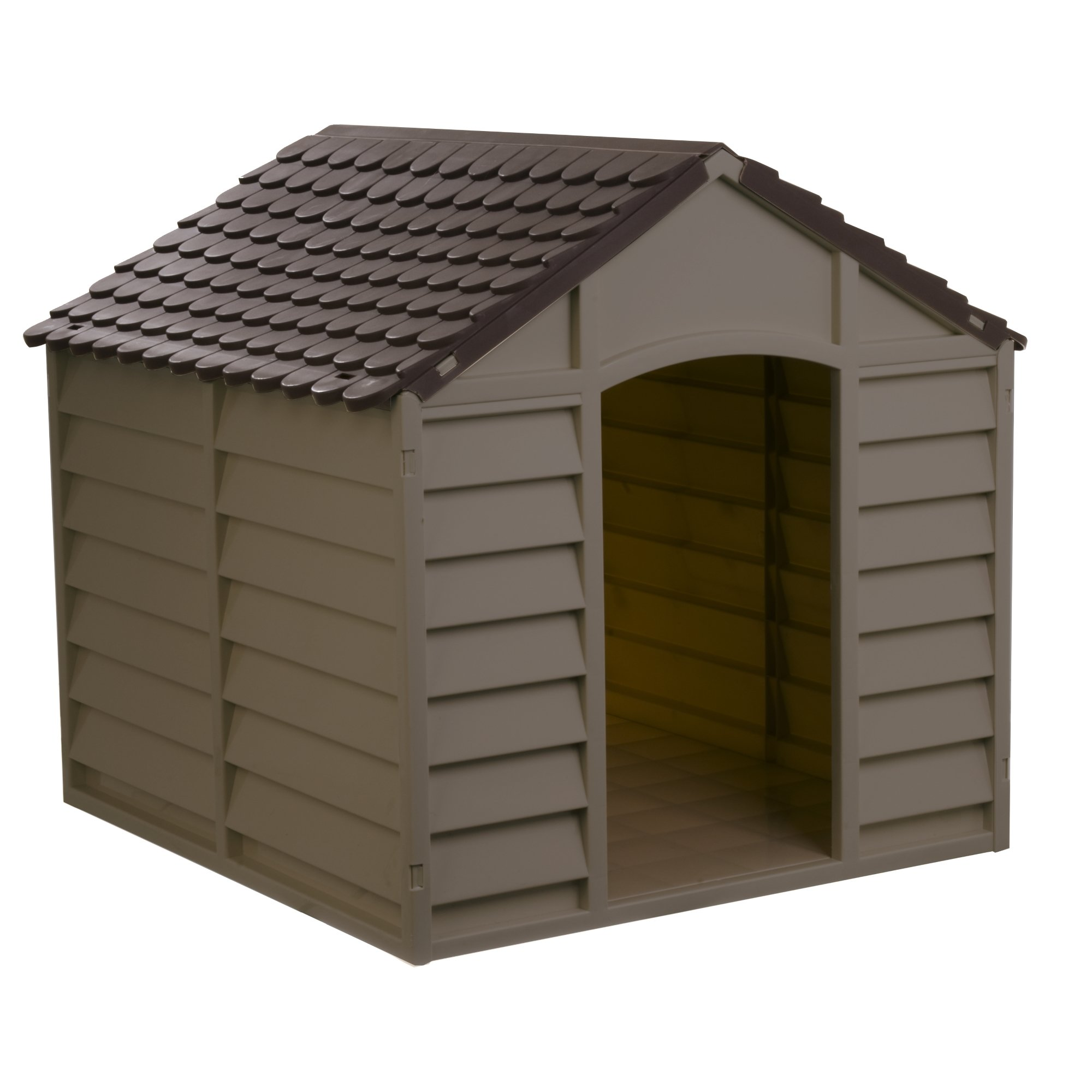 Starplast Mocha / Brown Large Dog House/Kennel by Starplast