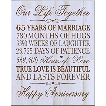Amazon Personalized 65th Year Wedding Anniversary Gift For