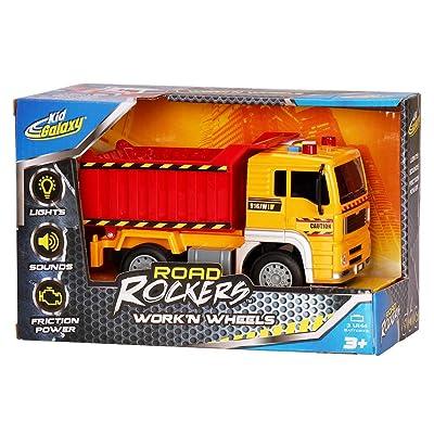 Kid Galaxy Road Rockers Work'n Wheels Dump Truck w/ Lights & Sounds: Toys & Games
