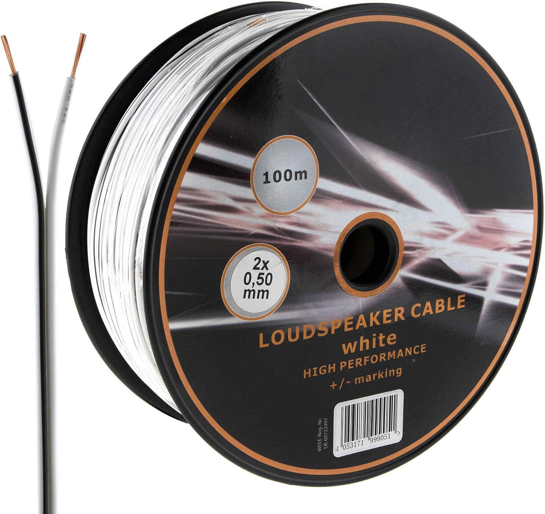 Mkgt Lautsprecherkabel 2 Adrig 2 X 0 50 Mm Ideal Elektronik