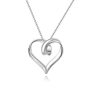 LAUNCH PRICE - 925 Sterling Silver Necklace for Women - Heart Shaped  Pendant -