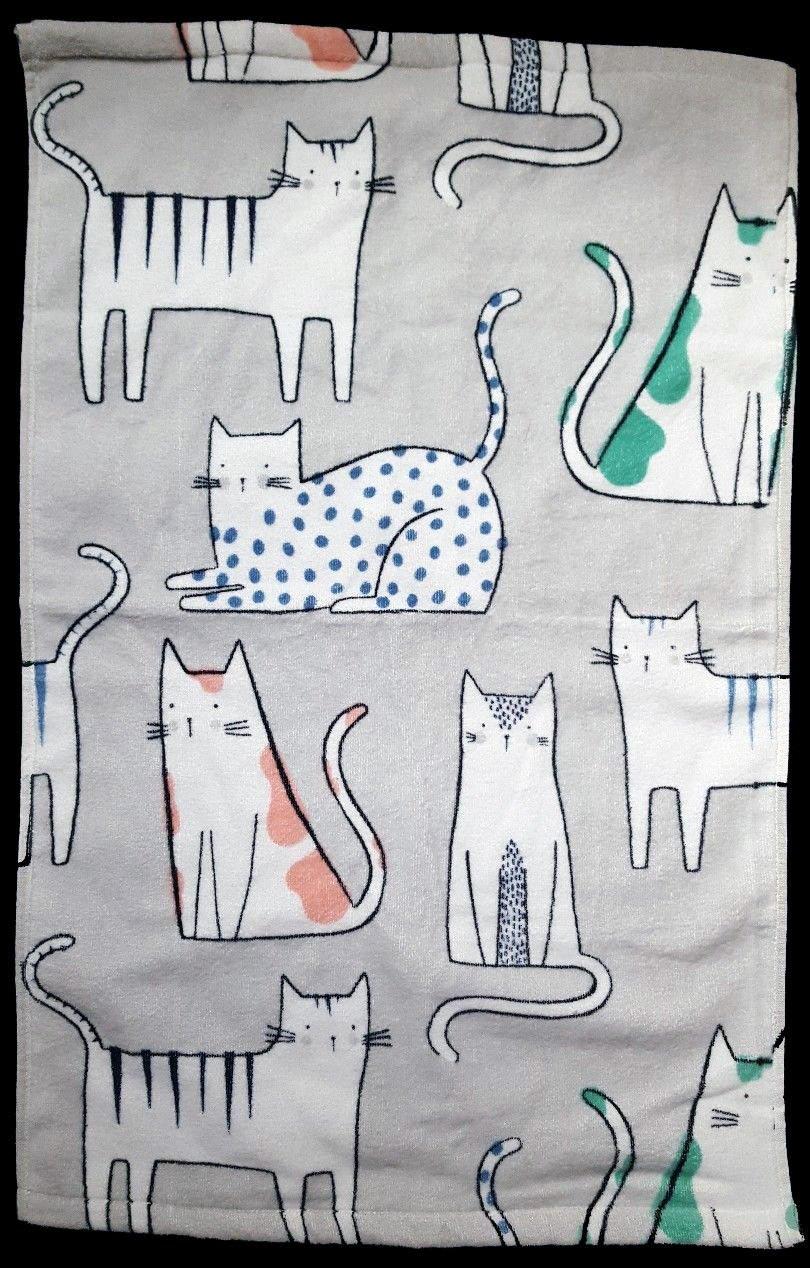 Artisan DeLuxe Velour Decorated Cats 3 Piece Bath Linen Set