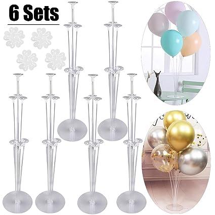 Amazon.com: Juego de 6 soportes para globos con 42 varillas ...