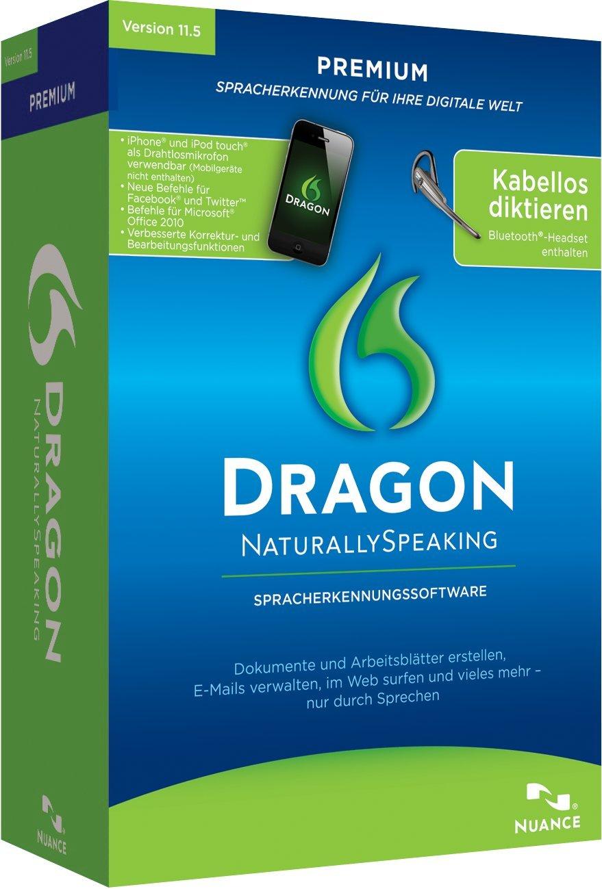 Dragon NaturallySpeaking Premium 11.5 Wireless: Amazon.de: Software