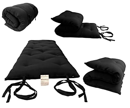 e93a72178 Amazon.com: D&D Futon Furniture Full Size Black Traditional Japanese ...