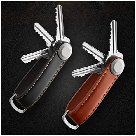 Amazon.com: Fashion Brand Smart Leather Key Holder Key ...