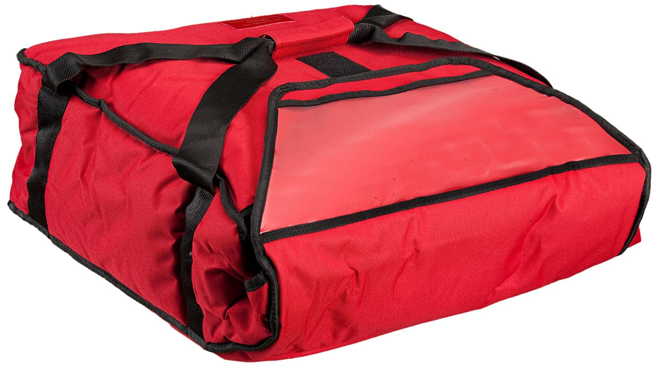Polar Tech 811 RED Nylon Fabric Standard Thermo Insulated Pizza Carrier, 19'' Length x 17-1/8'' Width x 7-1/2'' Depth, Red