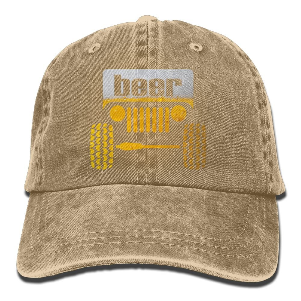 Arsmt Jeep Beer Denim Hat Adjustable Great Baseball Cap
