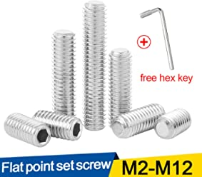 JUIDINTO Metric Hexagon Socket Button Head Screw Bolts Pan Round Head Stainless Steel Screw with Key Wrench 10pcs M4x5mm