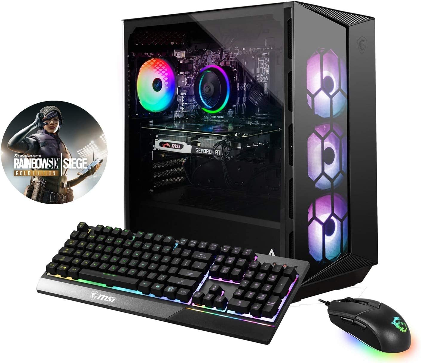 MSI Aegis RS 10SE-013US (i7-10700KF, 16GB RAM, 1TB NVMe SSD, RTX 2080 8GB, Windows 10) Gaming Desktop