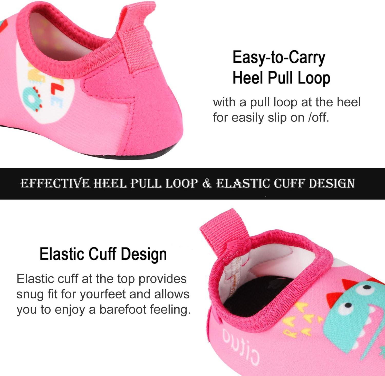 TAGVO Zapatos de Agua Baby Girl Girl Zapatos de nataci/ón de Calcetines Aqua Swim Calzados Descalzos para Piscina de Playa