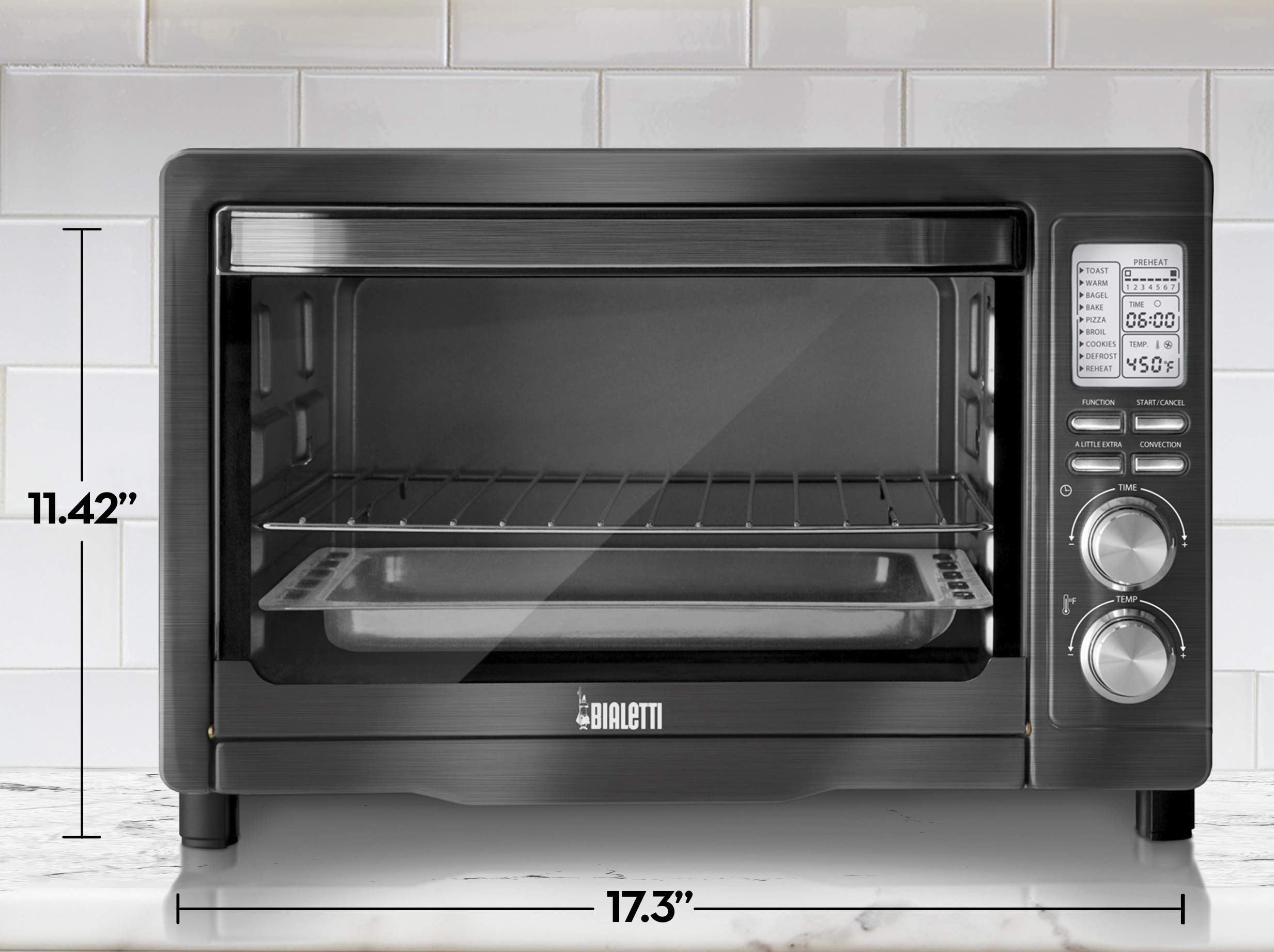 Bialetti (35047) 6-Slice Convection Toaster Oven, Black Stainless Steel by Bialetti (Image #6)