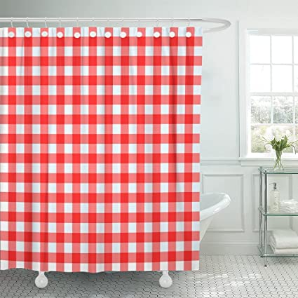 Image Unavailable Not Available For Color TOMPOP Shower Curtain Gingham