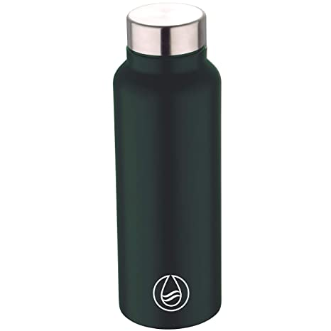 Bergner Botella agua 750ml acero inoxidable verde Walking ...