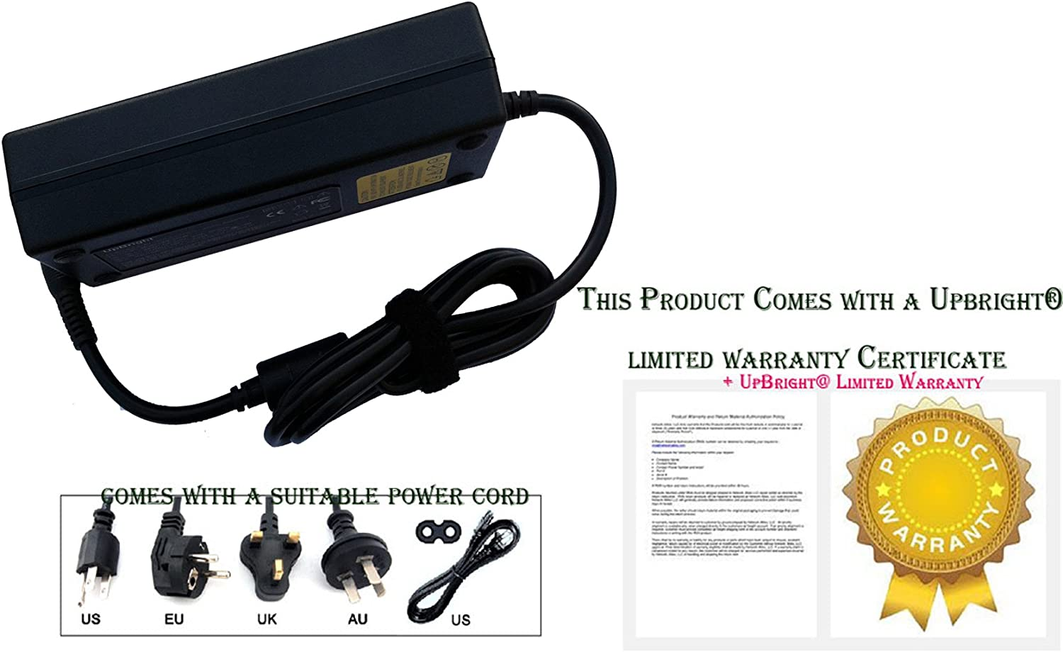 w//Barrel Tip UpBright New Global 24V AC//DC Adapter for Zebra FSP100-RDB FSP100RDB FSP P//N 808101-001 9NA1000100 808101-005 808101005 Printer 24VDC 4.17A 100W-120W Power Supply Cord Cable Charger