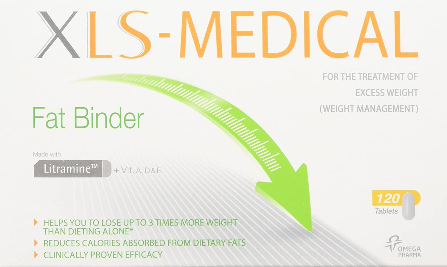 XLS Medical Fat Binder Tablets Weight Loss Aid - 20 Day Trial Pack, 120  Tablets