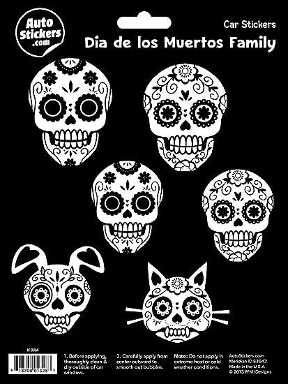 amazon com wmi designs 10064 dia de los muertos family stickers