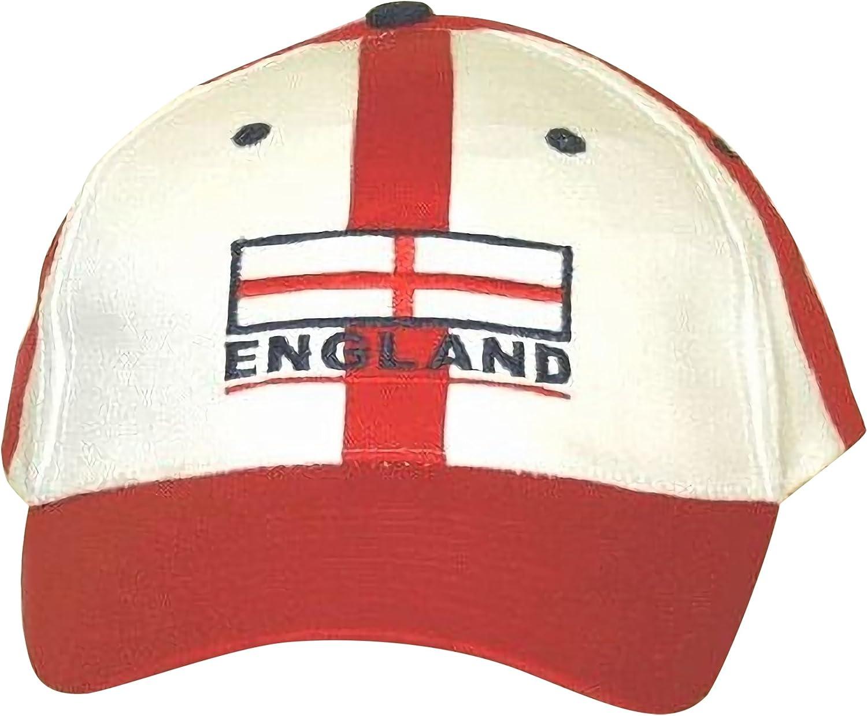 Gorra/Visera Bandera de Inglaterra, Roja y Blanca con Correa Ajustable (Ajustable) (como se Muestra): Amazon.es: Ropa y accesorios