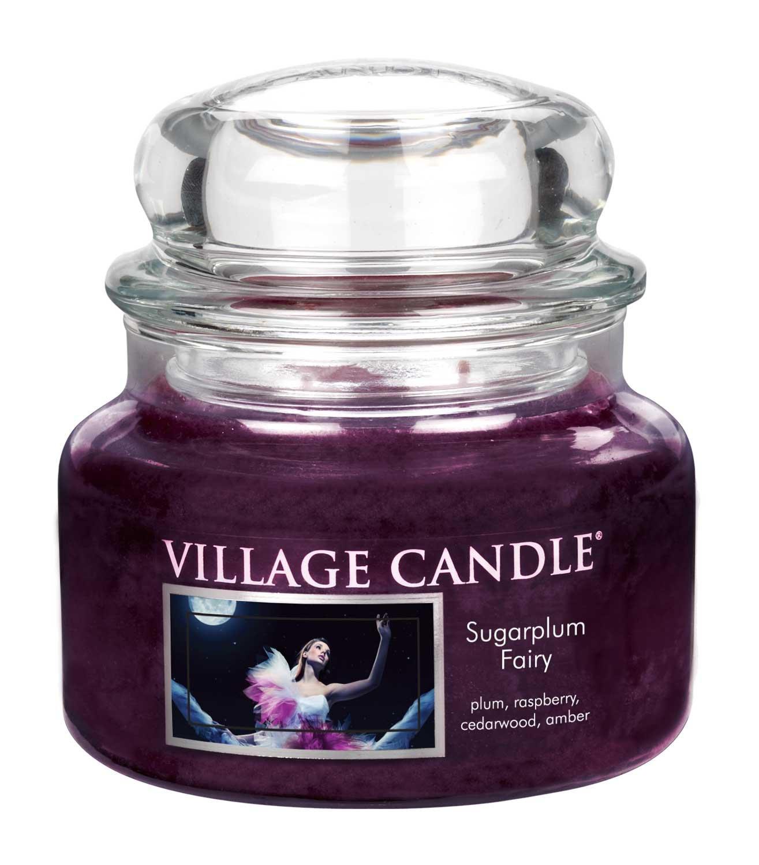Village Candle 106311091 Sugarplum Fairy Vaso Piccolo, Viola, 9.8 x 9.5 x 7.1 cm, 106011091