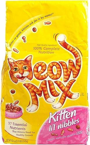 Meow Mix Kitten Li L Nibbles, 3.15-Pound