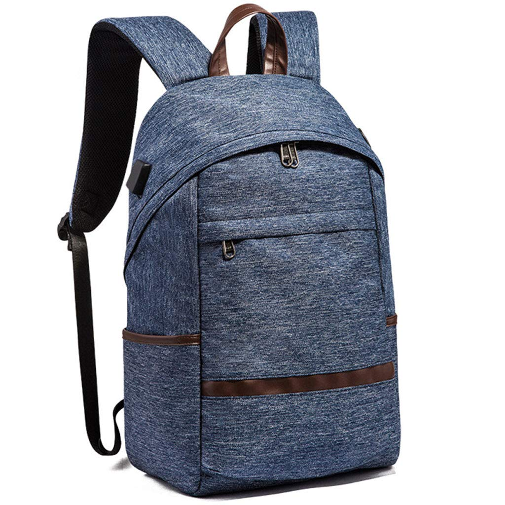 blueee BackpackKorean Version Outdoor Travel Bag AntiTheft Computer Backpack USB Bulk Pack