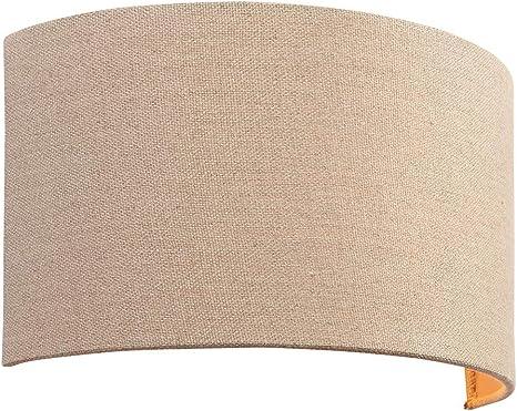 Endon 70335 Obi Moderno E Contemporaneo Decorativo Lino Luce A Parete Vetro Tessuto Metallo Ip20 220 240v Amazon It Illuminazione