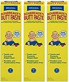 Boudreaux's Butt Paste Diaper Rash Ointment, Original, 4 Ounce Tubes-Pack of 3 Tubes