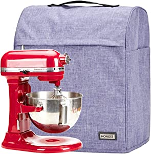 HOMEST Stand Mixer Dust Cover with Pockets Compatible with KitchenAid Bowl Lift 5-8 Quart, Purple (Patent Pending)