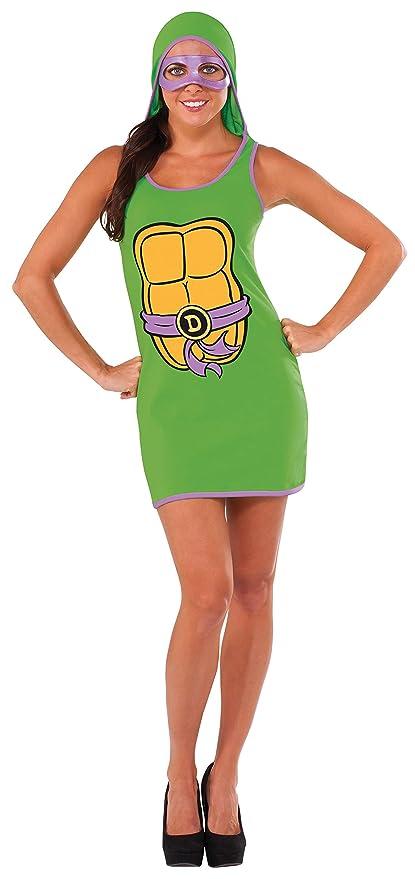 Vestido de Donatello Las Tortugas Ninja para mujer: Amazon ...