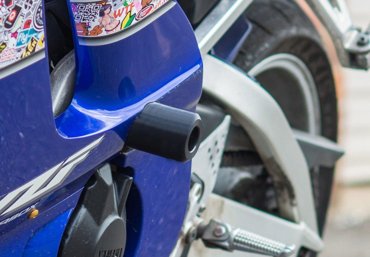 TJMOTO No Cut Black Frame Slider Engine Bodywork Fairing Crash Fall Protector For Motorcycle 2001 2002 SUZUKI GSX-R GSXR1000