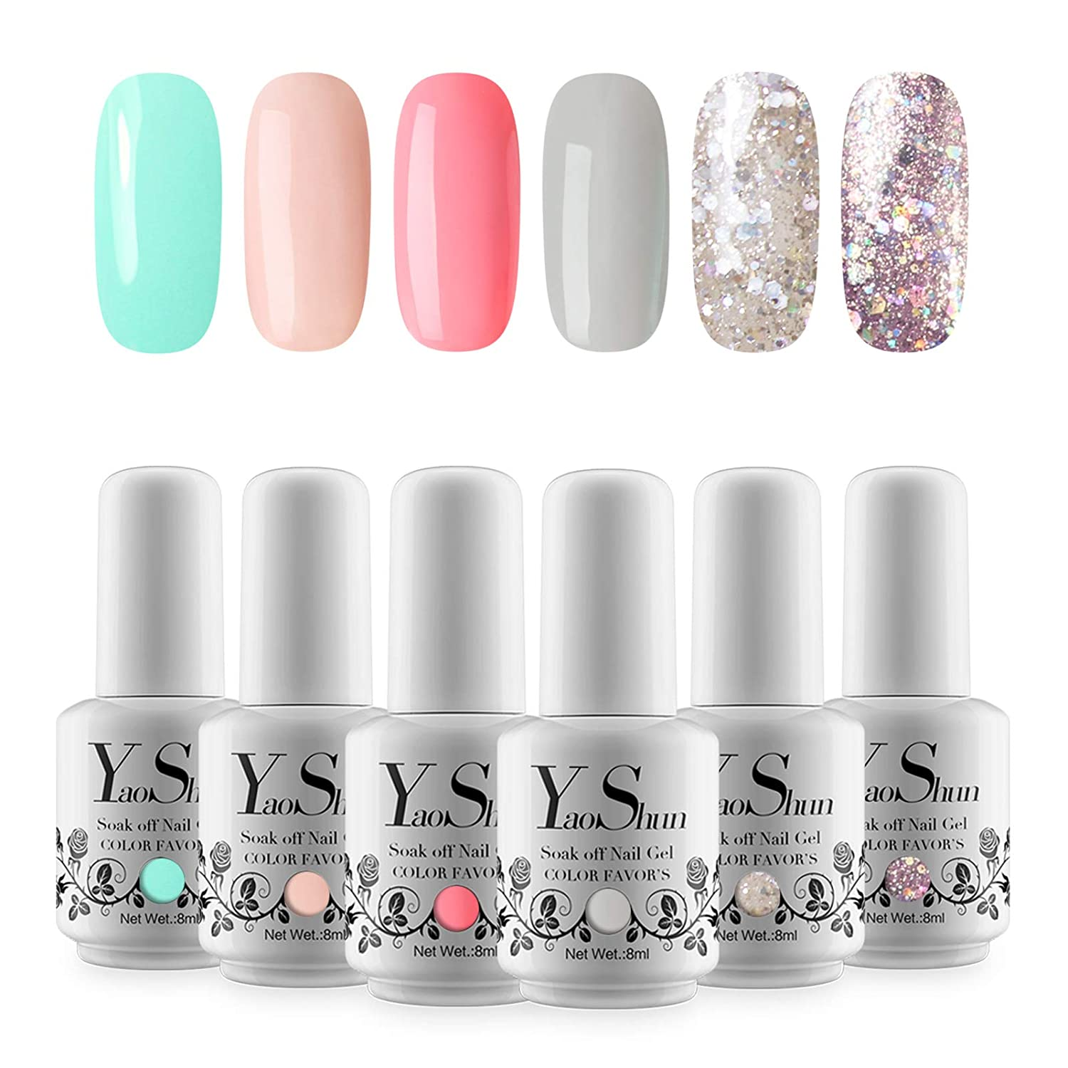 Amazon.com: YaoShun Gel Polish - Soak Off Nail Gel UV Led Gel Nail ...