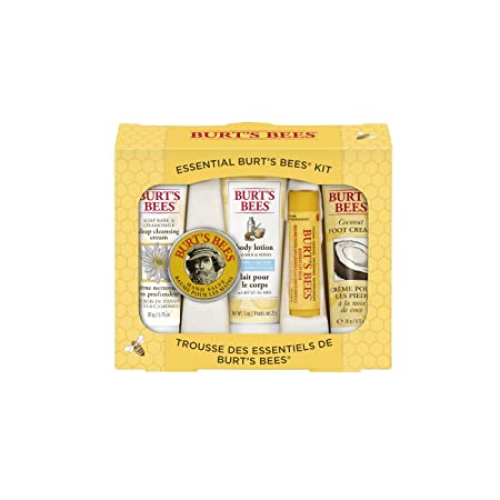 Review Burt's Bees Essential Everyday Beauty Gift Set, 5 Travel Size Products - Deep Cleansing Cream, Hand Salve, Body Lotion, Foot Cream and Lip Balm