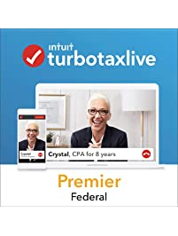 TurboTax Live Premier 2018, Do Your Federal Taxes Online with a Live CPA Onscreen. Start for Free, Pay $169.99 When You...