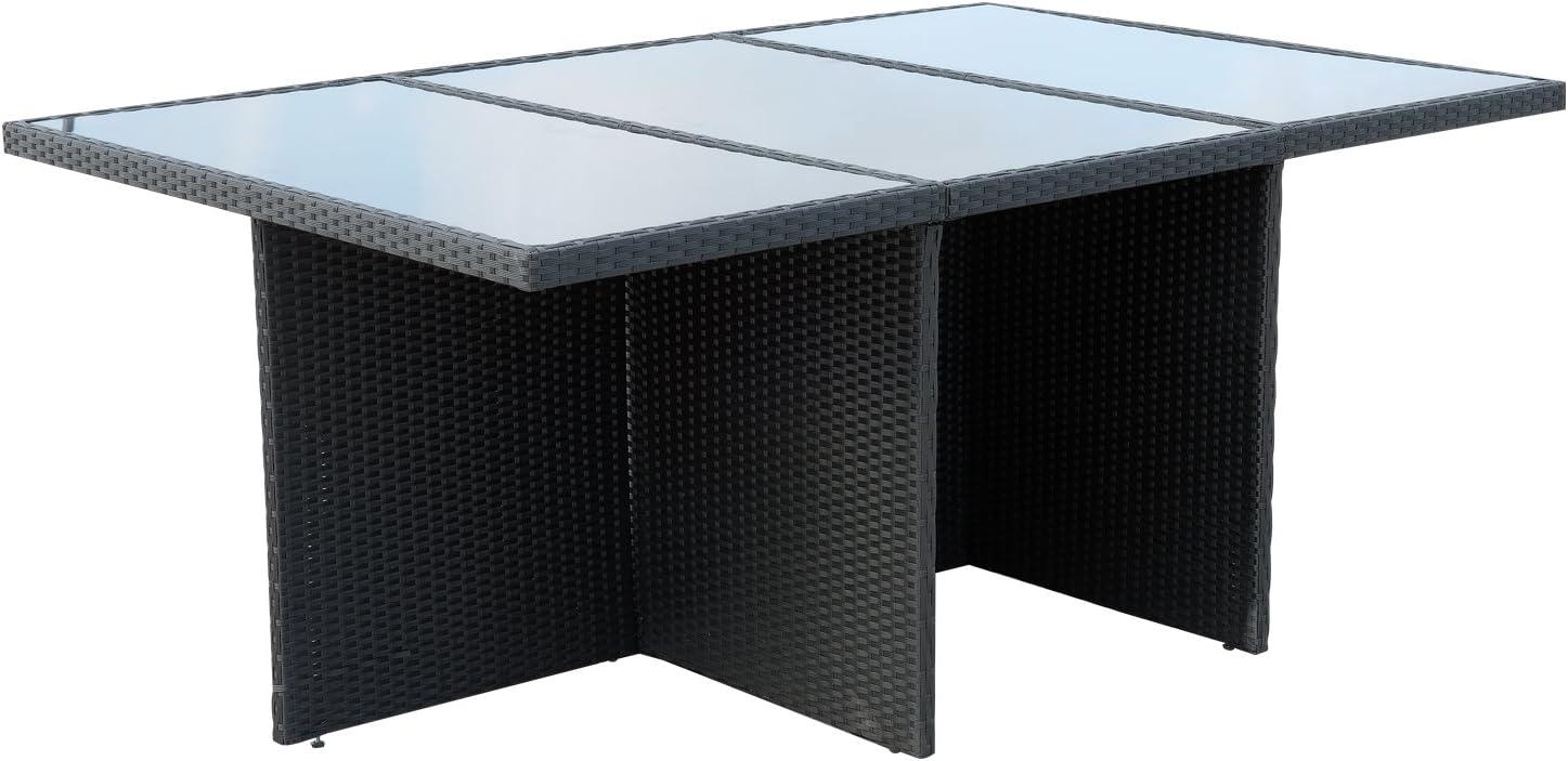 Outsunny - Juego de muebles de exterior de ratán y aluminio con 6 ...