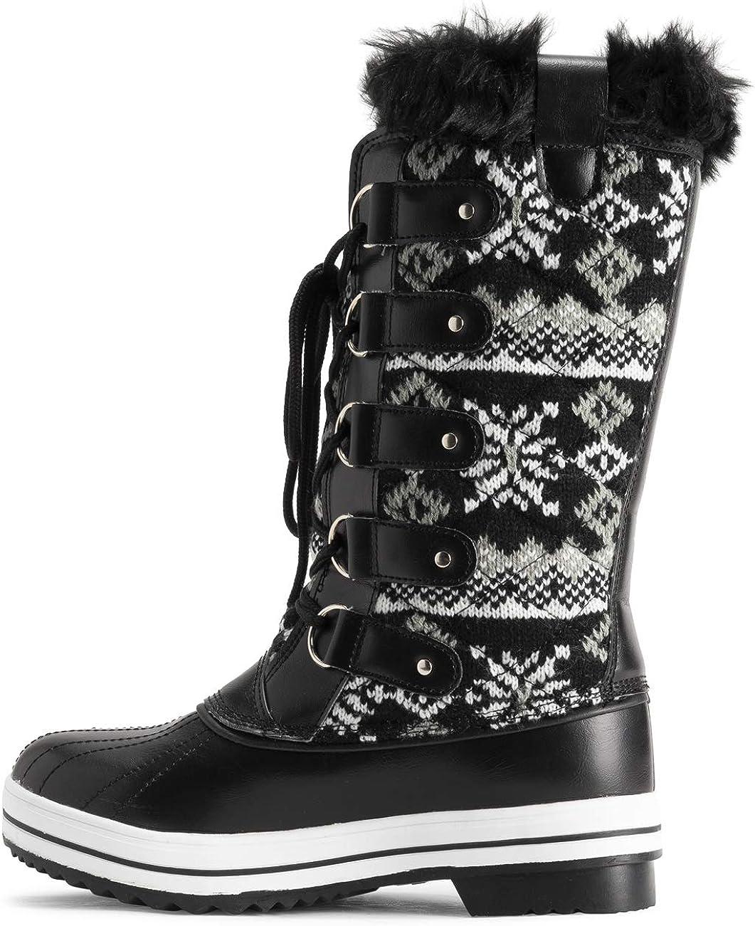 Polar Womens Nylon Tall Winter Snow Boot
