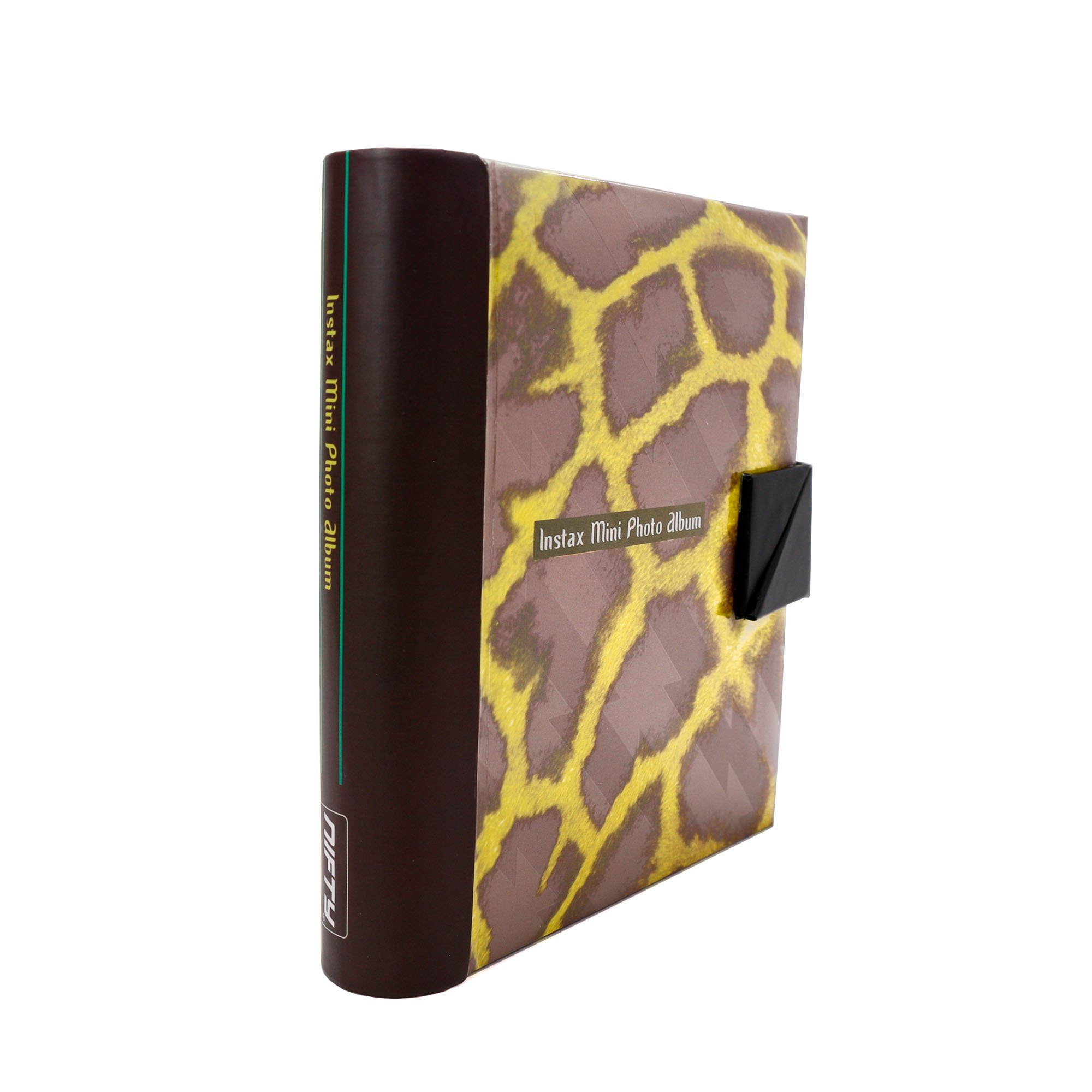 Nifty NIAL-NWS03OL NIFTY Instax Mini and Polaroid 300 Photo Album Copper and Yellow Giraffe (Holds 84 Photos) (Copper with Yellow)